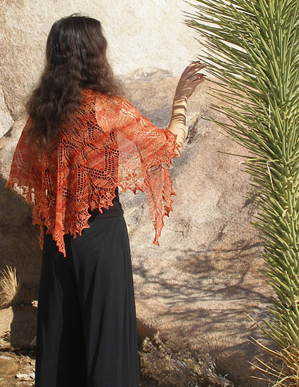 aeolian shawl, wedding knitting