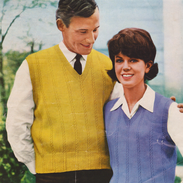 1960s his and hers knitting