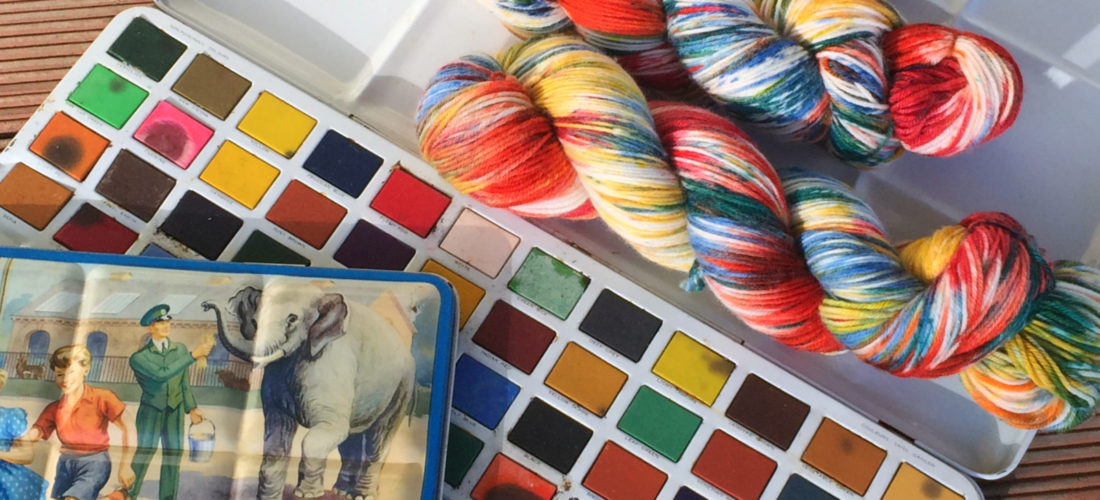 hand dyed Australian yarn